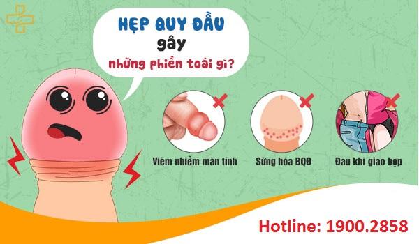 Hẹp bao quy đầu có thể ảnh hưởng xấu đến sức khỏe sinh sản của nam giới