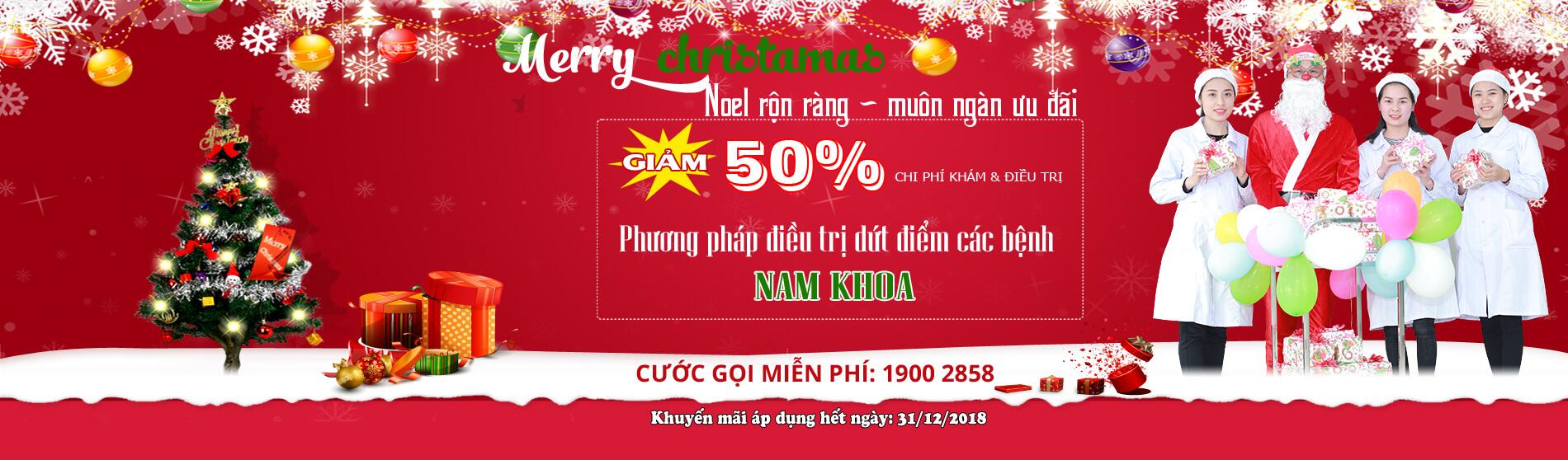 Noel rộn ràng muôn vàn ưu đãi, giảm 50% chi phí khám và điều trị
